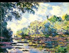 Section of the Seine, near Giverny - Claude Oscar Monet - www.claudemonetgallery.org