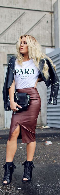 Angelica Blick and that leather jacket #outfit #style