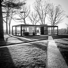 Philip Johnson's Glass House.