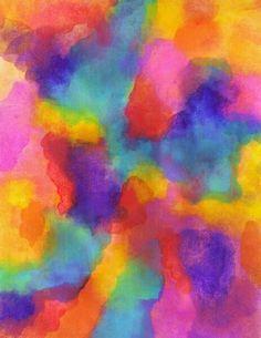 Rainbow inkblots.