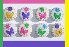 8 Cute BUTTERFLY FLOWER Pastels kids girls by PATRINASPLACE