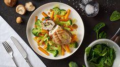 Plněné vepřové řízky na zelenině Mozzarella, Cobb Salad, Ale, Tacos, Mexican, Meat, Chicken, Ethnic Recipes, Food