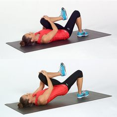 Pin for Later: Better-Butt Challenge: A Lazy-Girl Workout You'll Love Single-Leg Bridge Lazy Girl Workout, Bridge Workout, Single Leg Bridge, Butt Challenges, Back Exercises, Fitness Exercises, Easy Workouts, Treadmill Workouts, Cardio Workouts