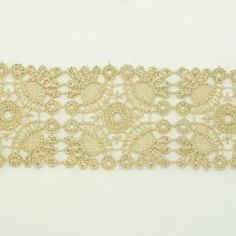 Gold Metallic Lace trim by the yard - Bridal wedding Lace Trim embroidery trim wedding fabric Millinery accent motif scrapbooking crafts lace for baby headband hair accessories dress bridal accessories by Annielov trim 124 ** See this great item.