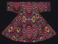 Robe Central Asia, Uzbekistan, Fergana valley. Third quarter 19th century. The Textile Museum 2005.36.100. The Megalli Collection. Tumblr