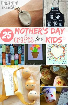 Mother's Day Crafts for Kids @HomeLifeAbroad.com #mothersday #kidcraft #diymothersday #diygifts