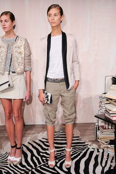 [Be a Slouch | Alice + Olivia #ss14] Heeey my bunched up long cargo shorts thing is a thing ^^