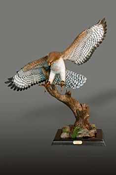 Discreet French Hand Carved Falcon Bird Statue Sculpture 2019 New Fashion Style Online Antiques