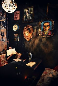 Restaurant interior. Manna La Roosa is the coolest and most beautiful restaurant and cafe in Tallinn, Estonia. Photo: Outi Les Pyy