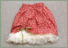 Peaches and Bees: Girly Layered Skirt for Little Momo