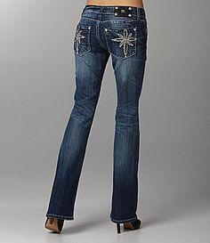 Miss Me Jeans Starburst Pocket Bootcut Jeans |