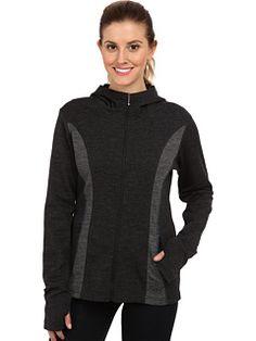 Kuhl Heidi merino wool full-zip hoodie, smoke color, size sm