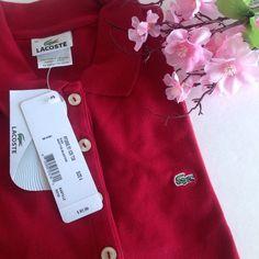 Lacoste Long Sleeve Polo Shirt Lacoste Polo Shirt; long sleeve; NWT; dark red Lacoste Tops