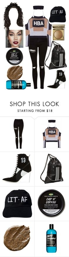 """Interviews: December 17"" by allison-syko ❤ liked on Polyvore featuring Topshop, Hood by Air, Puma, adidas and Stila"