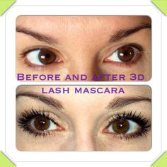 Before and After 3D lashes Younique Independent Presenter - Leisha  Check out the amazing Younique products - pigments, blush, concealer, moisturizer, 3d fiber lashes, and more!