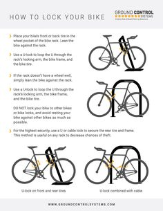 How To Lock Your Bike / Bicycle Parking Tips // Ground Control Systems
