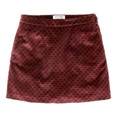 Jack Wills - Arabell Velvet Skirt