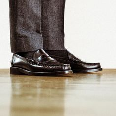 Leather Sole with Dovetail Toplift. Penny Loafers, Loafers Men, Rock The Casbah, Oak Street, Oxblood, Leather Heels, Espresso, Oxford Shoes, Dress Shoes