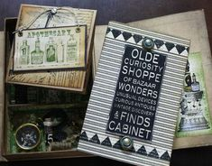 Absolutely amazing Olde Curiosity Shoppe altered box by @Nancy Wethington! We love you, Nancy! #graphic45
