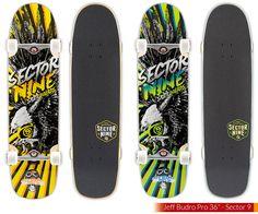 El nuevo modelo de Jeff Budro de Sector9 una tabla para patinarlo todo:  #sector9 #skateverything #40sk8 #skateboards