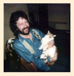 Eric Clapton and his cutie cat