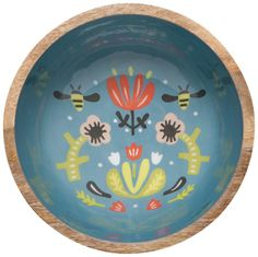 Frida Mango Wood Serving Bowl | Danica Studio Small Zipper Pouch, Wood Bowls, Rustic Charm, Serving Bowls, Mango, Decorative Plates, Objects, Boutiques, Tableware