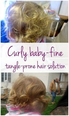 If you have a baby toddler or little girl with baby-fine curly hair that is tangle prone - here is the solution that we found to make Kelsie's hair more manageable.
