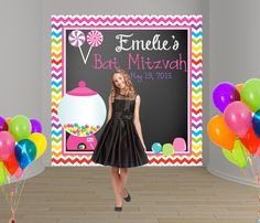 Disco Ball Birthday Squares Personalized Banner