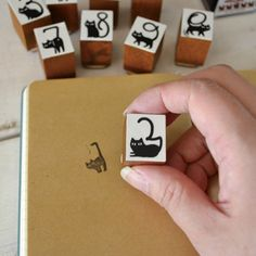 Cat Tail Number Stamp Set by Decole