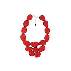 Organic Red Gema Necklace ❤ liked on Polyvore