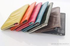 unique leather wallet with zipper. Unique Color. Only 3$ international shipping fees. AnneCecileCreation Fun Crafts For Teens, Unique Colors, Leather Wallet, Craft Projects, Goodies, Zipper, Couture, Friends, Totes
