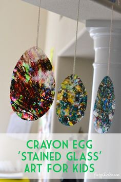 A great craft for using old crayons - Crayon 'Stained Glass' Art for Kids #yearofcelebrations