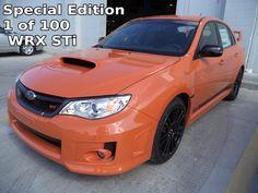 2013 Subaru WRX STi Limited Edition 1 of 200 Tangerine Orange Pearl STi's produced