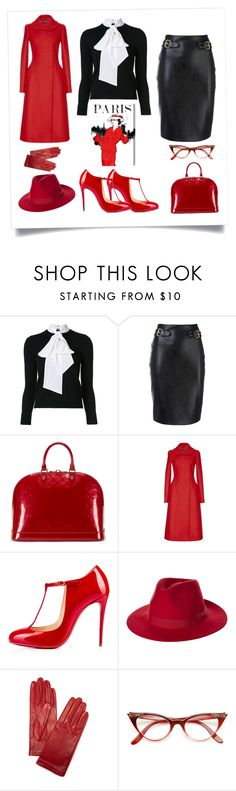 """""""Paris"""" by b-nieves ❤ liked on Polyvore featuring Alice + Olivia, Moschino, Louis Vuitton, Dolce&Gabbana, Christian Louboutin, Brixton, Carolina Amato and Oliver Gal Artist Co."""