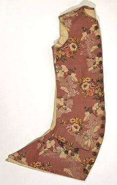 Waistcoat 1775, French, Made of silk