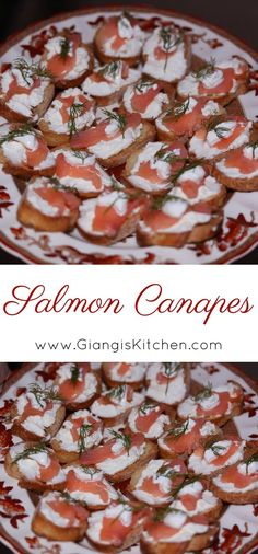 Salmon Canapes NEW at www.GiangisKitchen.com #appetizers #salmon