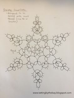 Well, it's not a very original name (it's been used for lots of crafted snowflakes), but I still wanted to call this one Dainty Snowflake be...