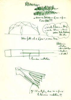 Disegni - IBM Traveling Pavilion - Rpf Renzo Piano, Sketch Drawing, Land Art, Ibm, Architects, Architecture Design, Presentation, Traveling, Study