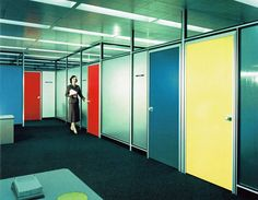 Mid-Century awesomeness at the Inland Steel Building at 30W Monroe, 1957, Chicago.