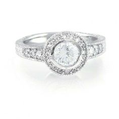 Bling Jewelry 925 Silver 1.5ct CZ Solitaire Vintage Circlet Engagement Ring