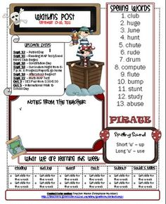 Pirate Newsletter Template