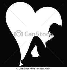 """Résultat de recherche d'images pour """"silhouette coeur dessin"""""""
