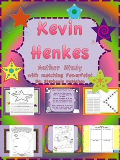 Kevin Henkes Author Study with matching PowerPoint-This unit covers 9 Henkes books! $7.00 during the month of August and the 8.75