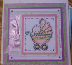 Baby Girl Card using Whipper Snapper Rubber Stamp