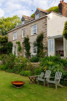 The renovation of Pembroke Lodge Cornwall   House & Garden Life Is Beautiful, Beautiful Gardens, Cornwall House, Pembroke Lodge, Beata Heuman, House By The Sea, Cottage Exterior, Georgian Homes, Brown Furniture