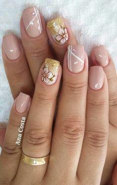 Elegant Nail Art Designs for 2017 Nail Art Designs, Short Nail Designs, Nail Designs Spring, Elegant Nail Art, Elegant Nail Designs, Uñas Color Coral, Colour, Cute Nails, Pretty Nails
