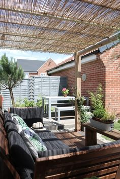 My Garden Last Summer - The 'dining deck' as seen from the pergola
