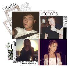 """Brother and sister intro"" by halloween-town ❤ liked on Polyvore featuring Hedi Slimane and Chanel"