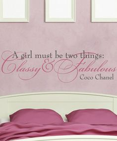 Classy and Fabulous' Wall Decal