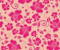 Gentle floral seamless pattern wallpapers vector 01